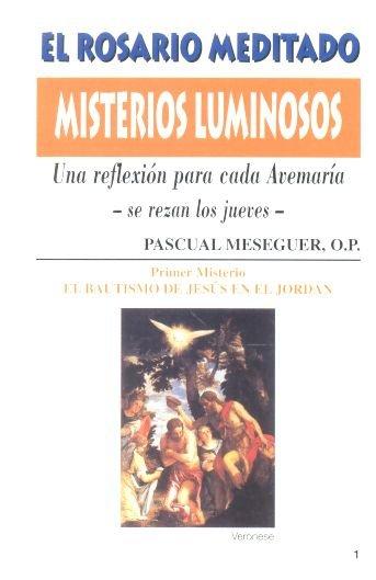 Rosario meditado misterios luminosos