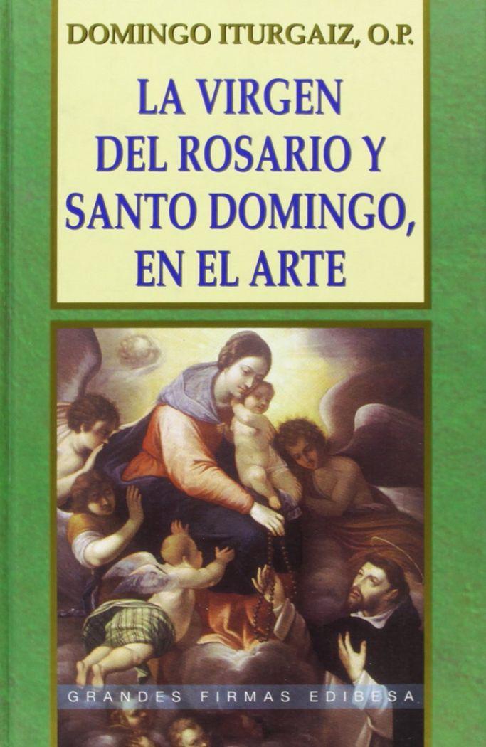Virgen del rosario y santo domingo, en el arte,la