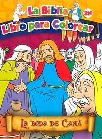 La boda de cana  la biblia libro para colorear 2n
