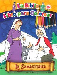 La samaritana   la biblia libro para colorear 3n
