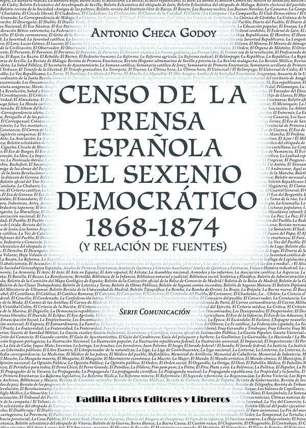 Censo de la prensa española del sexenio democratico 1868-187