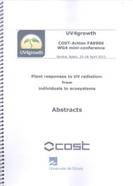 Plant responses to uv radiation from indi