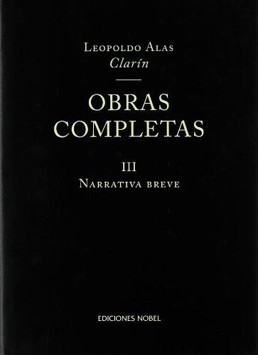 Obras completas iii narrativa breve