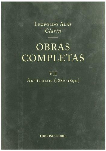 Obras completas vii articulos 1882-1890