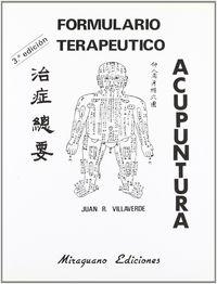 Formulario terapeutico de acupuntur