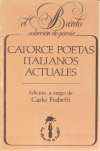 Catorce poetas italianos actuales