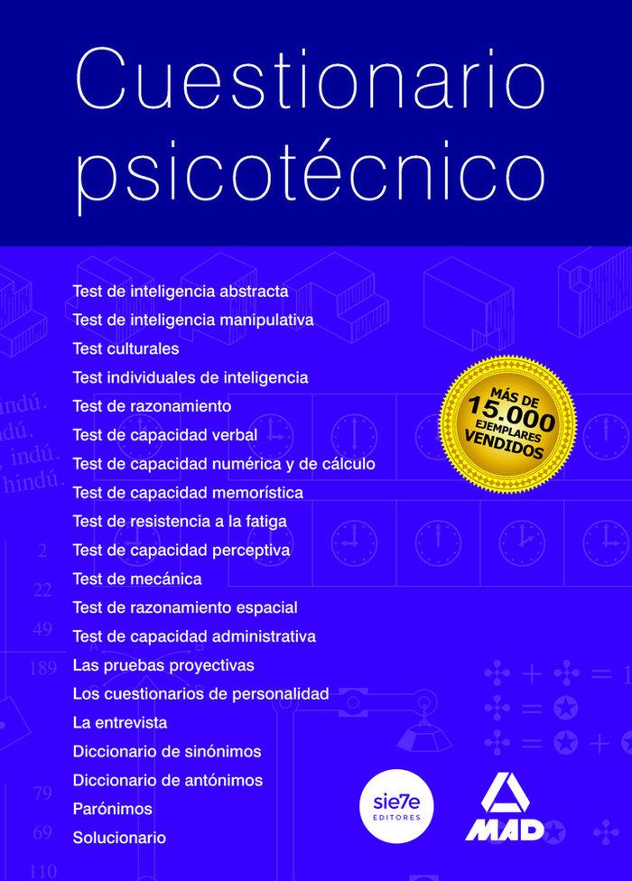 Cuestionario psicotecnico