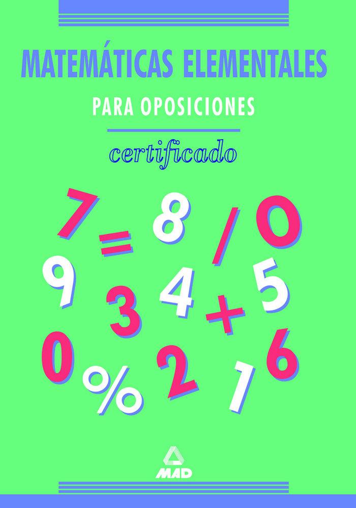 Matematicas elementales oposiciones certificado