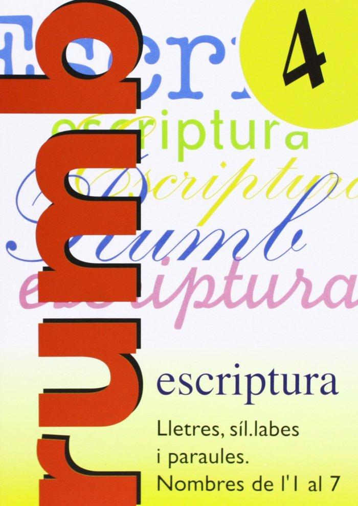 Escriptura rumb 4 lletres sil labes i paraules nom