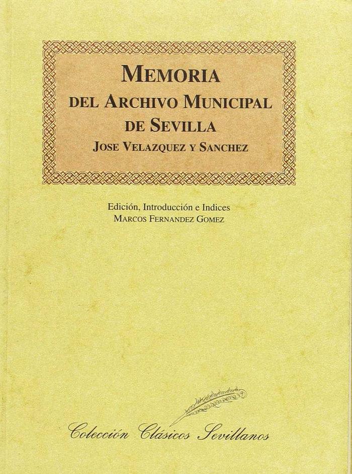 Memoria del archivo municipal de sevilla