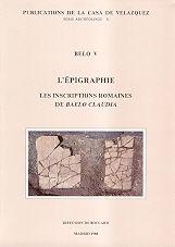 Belo v. l'epigraphie