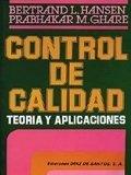 Control de calidad teoria y aplicaciones
