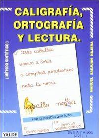 Caligrafia ortografia i lectura
