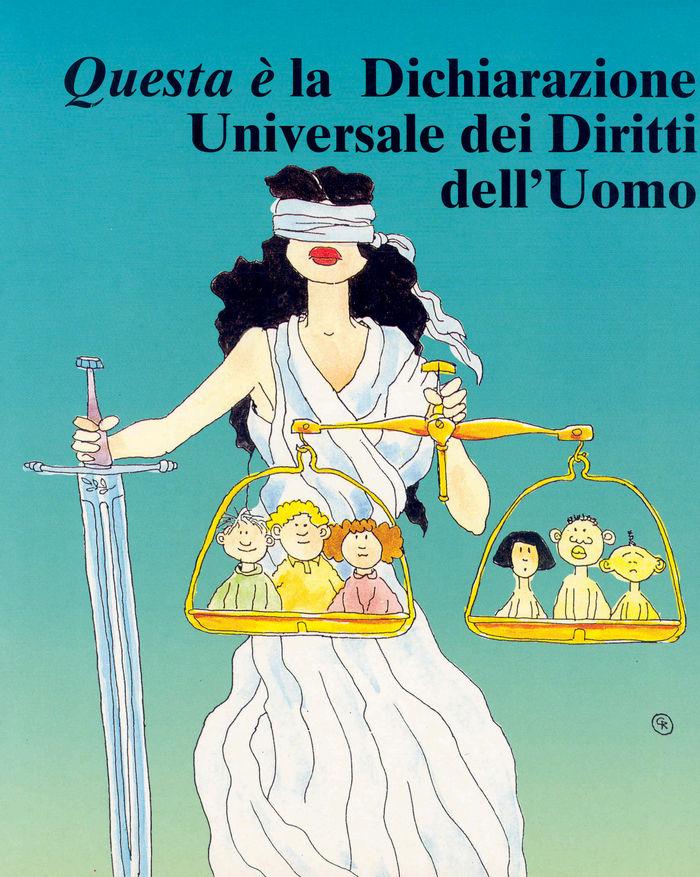 Questa e la dechiarazione universale itali