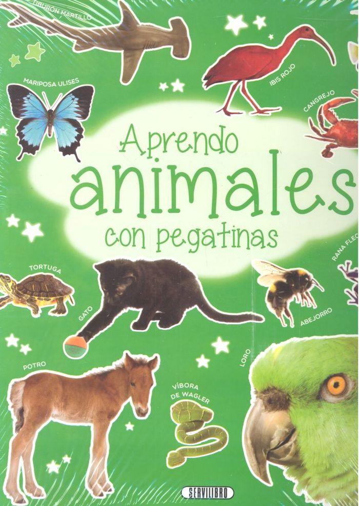 Aprendo animales con pegatinas 4 titulos