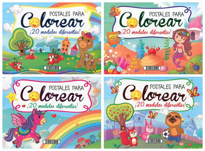 Postales para colorear