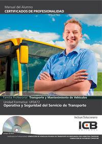 Operativa y seguridad del servicio de transporte ufo0472  ce