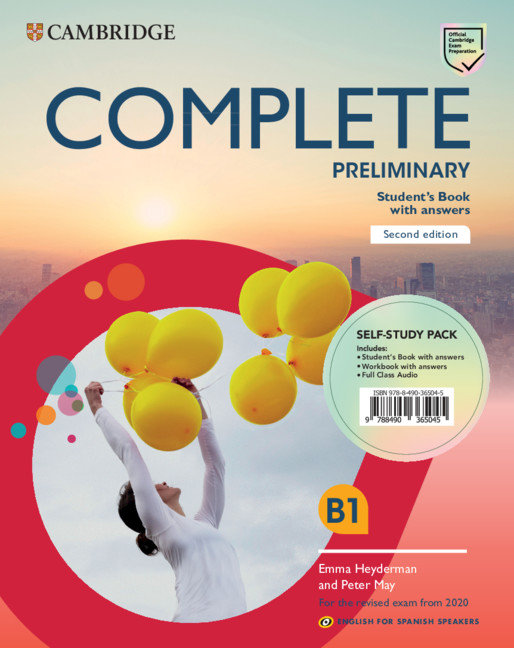 Complete preliminary second edition english for spanish spea