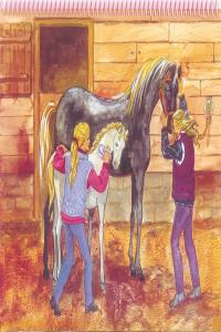 Princess top horses coloring book caballos