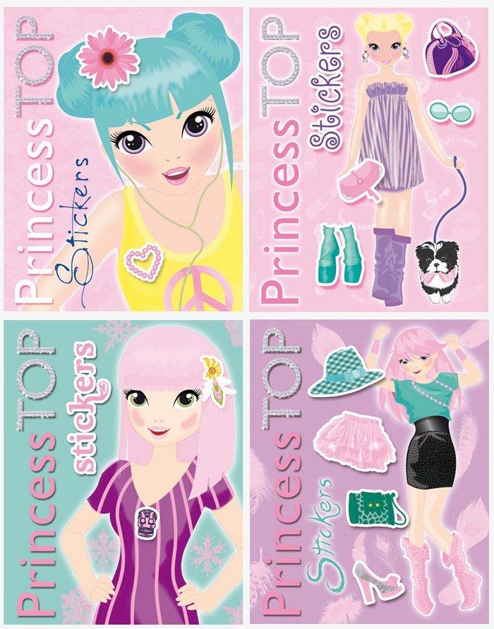 Princess top stickers (4 titulos)