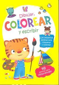 Dibujar colorear y escribir 1