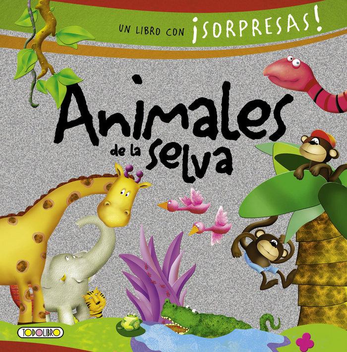 Animales de la selva libro con sorpresas