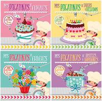 Mis pegatinas cupcakes tartas chuches pasteles ref 405