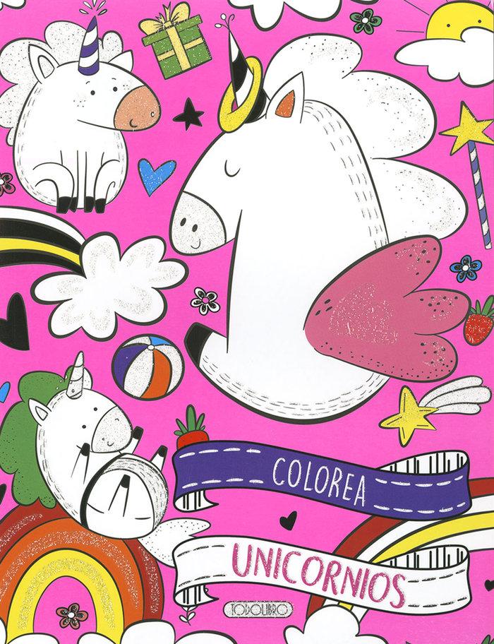 Colorea unicornio