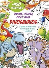 Monta colorea pega y juega dinosaurios