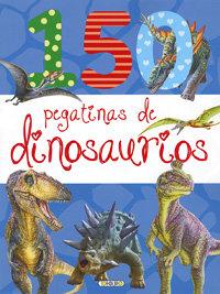 150 pegatinas de dinosaurios azul