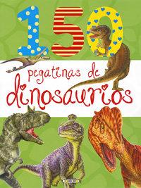 150 pegatinas de dinosaurios verde