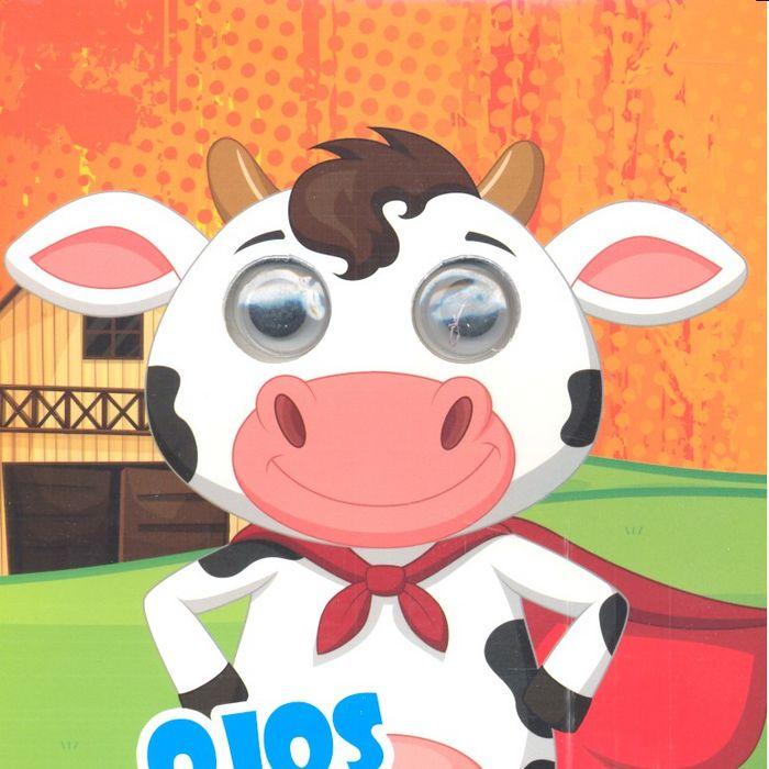 Ojos locos colorea vaca