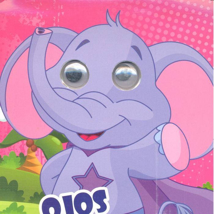 Ojos locos colorea elefante
