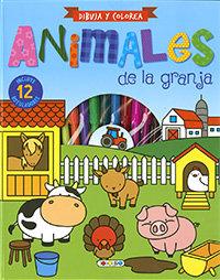Dibuja y colorea animales de la granja