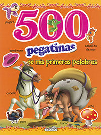 500 pegatinas naranja