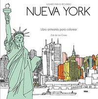Nueva york secreto libro antiestres para colorear