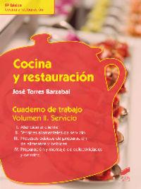 Cocina y restauracion. cuaderno de trabajo