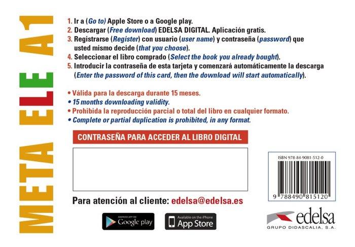 Meta ele a1 - tarjeta app alumno