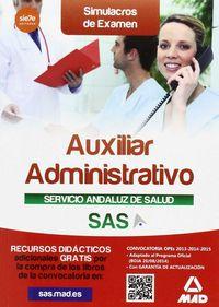 Auxiliar administ servicio andaluz salud simulacro examenes