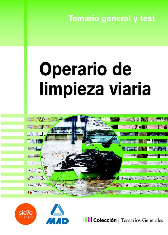 Operario de limpieza viaria temario general y test