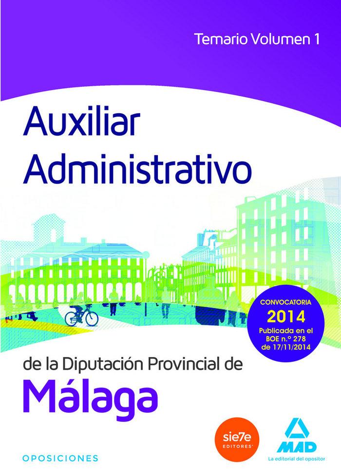 Auxiliar administrativo diputacion de malaga vol 1