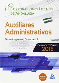 Auxiliar adm corp locales andalucia temario vol. 2