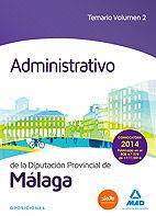 Administrativo de la diputacion de malaga. temario volumen 2