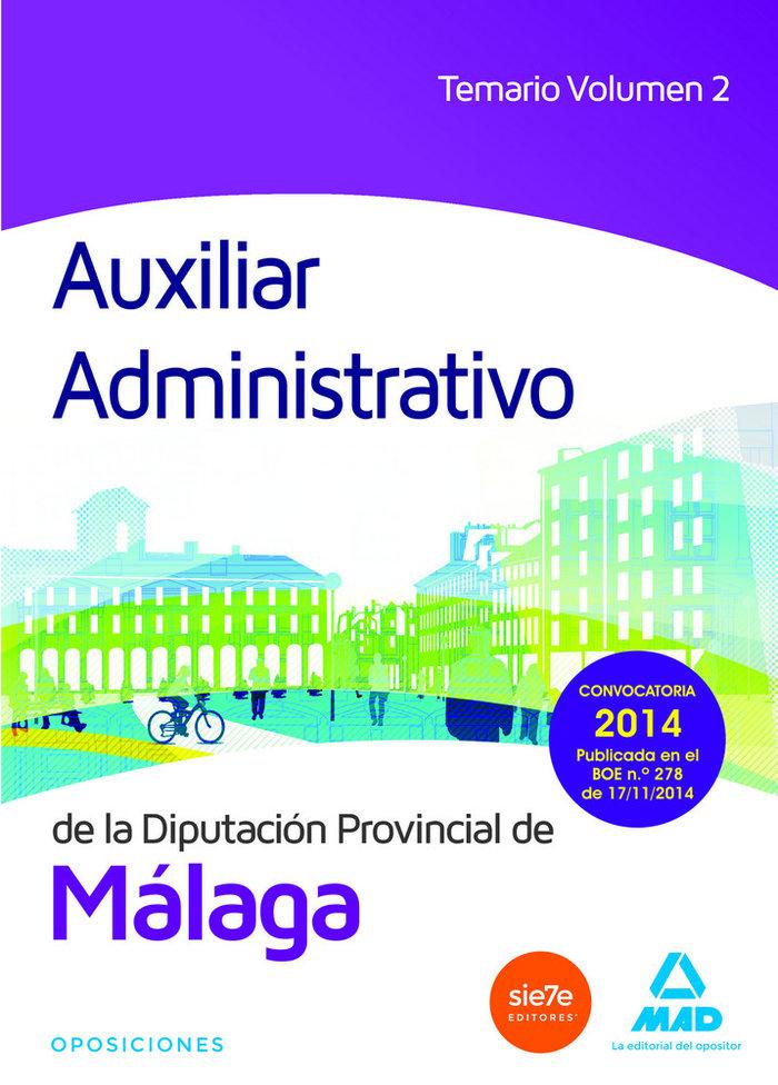 Auxiliar administrativo diputacion de malaga vol 2
