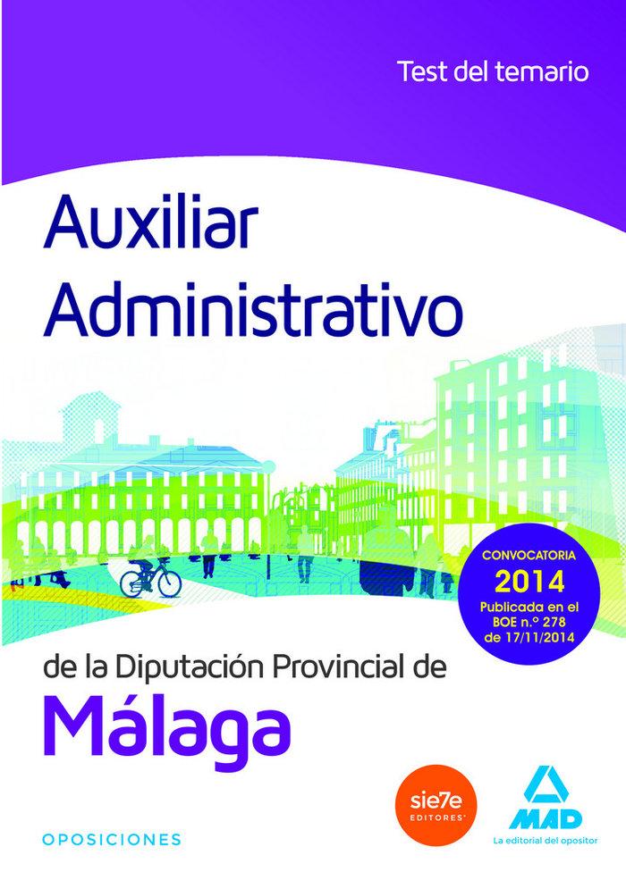 Auxiliar administrativo diputacion de malaga test 2014