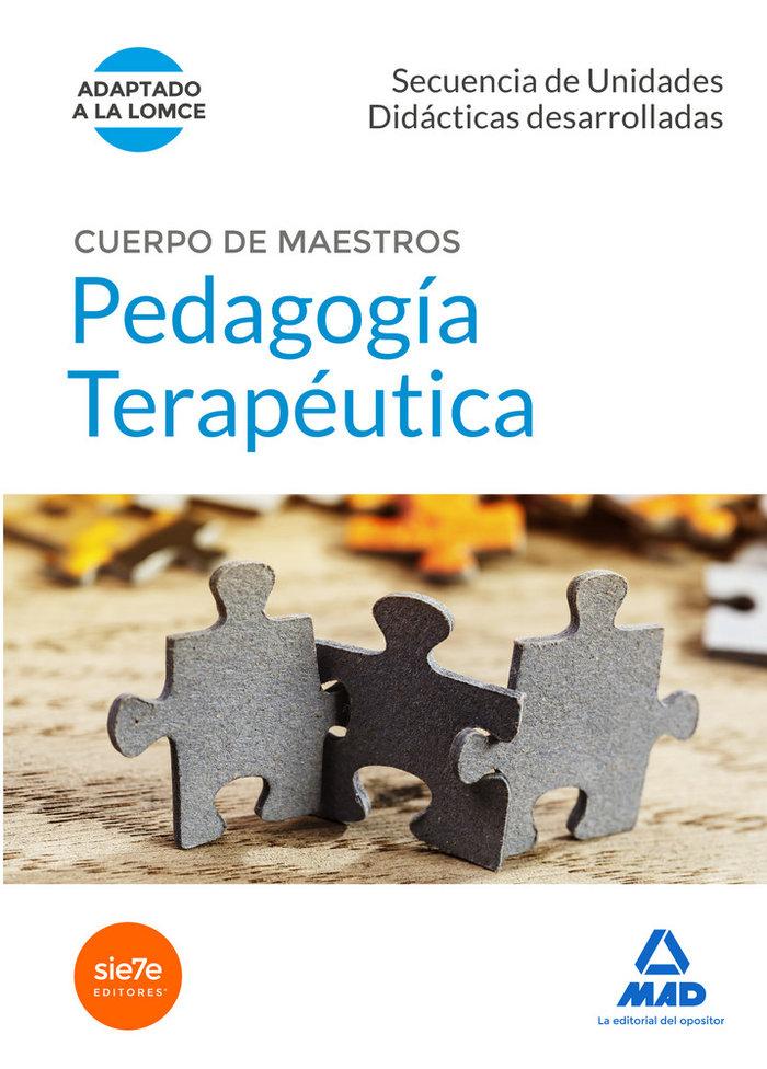 Cuerpo de maestros pedagogia terapeutica secuencias unidade