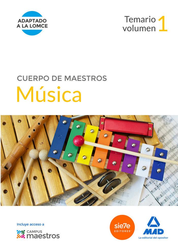 Maestros musica volumen 1 temario