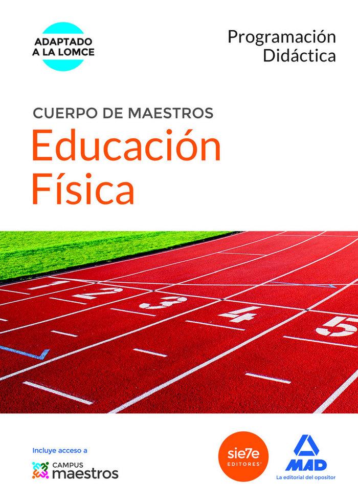 Cuerpo de maestros educacion fisica programacion didactica