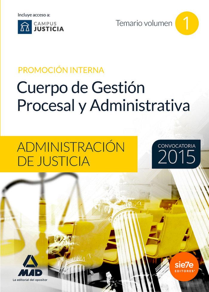 Cuerpo gestion procesal y administrativa vol 1