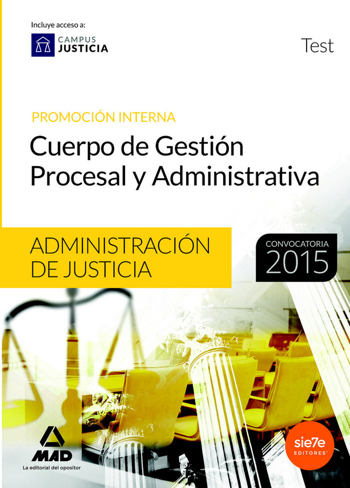 Cuerpo gestion procesal y administrativa test